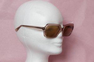 Lila-braune Vintage-Sonnenbrille mit rechteckigen Gläsern 70s / Hippie-Style