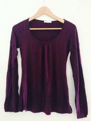 Lila/Brombeer Basic-Shirt