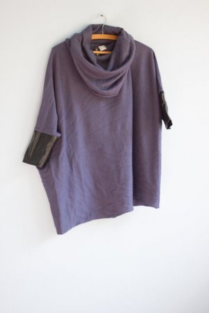 Rainbow Cowl-Neck Shirt grey violet-black imitation leather