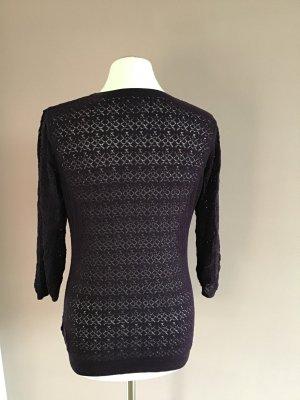 H&M Cardigan en crochet gris violet-violet foncé