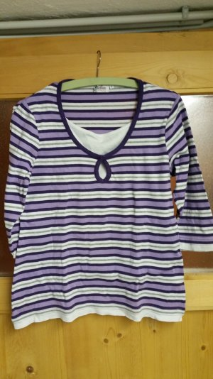 Camisa blanco-lila
