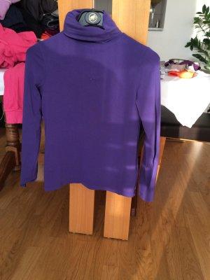Lila Esprit Shirt Rollkragenpullover