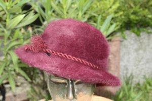 Chapeau bavarois violet-violet