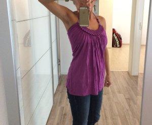 Lila farbenes top mit Perlen / nie getragen