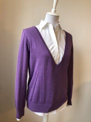 Lila-farbiger V-Ausschnitt Sweater von GANT