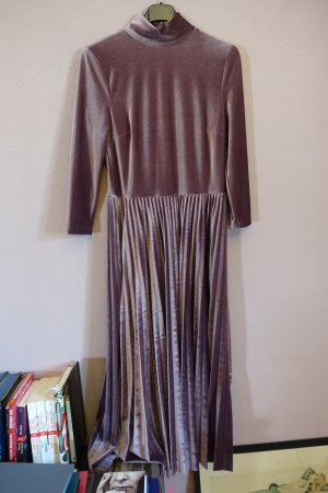 lila- / fliederfarbenes kleid von oasis, wie neu, plissee