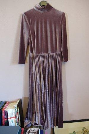 lila- / fliederfarbenes kleid von oasis, wie neu, plissee, samt, samtkleid
