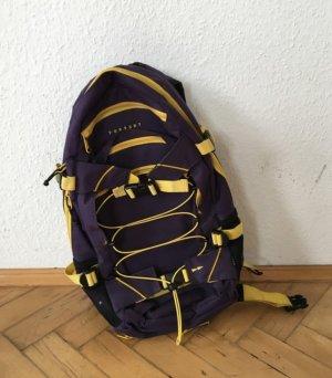 Forvert Zaino laptop viola scuro-giallo neon