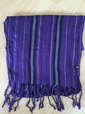 Lila gestreifter Schal von Cecil
