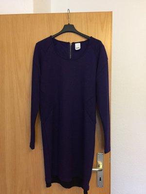 Rütme Vestido de tela de sudadera violeta oscuro-negro