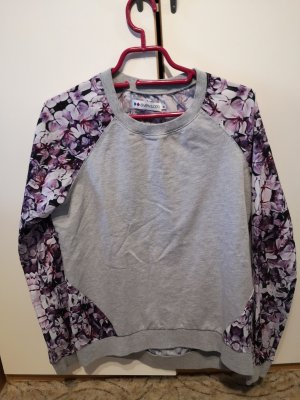 lila/grauer Pullover