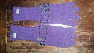 Roeckl Guantes lila-violeta azulado Lana