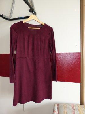 Zara Robe à manches longues violet tissu mixte