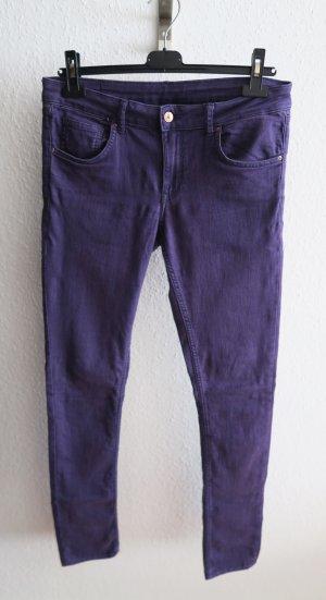 lila Hose 40 42 Röhre Jeans