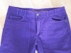 More & More Corduroy Trousers dark violet-blue violet cotton
