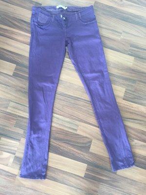 Drainpipe Trousers dark violet