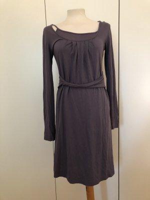Lila Jerseykleid mit Unterkleid Langarm