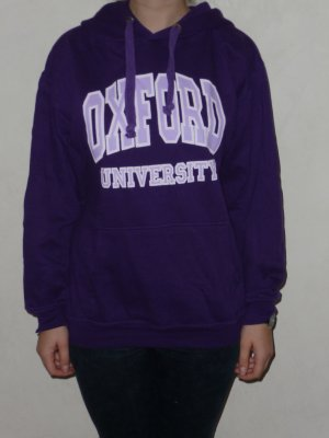 "lila Kaputzenpulli ""Oxford University"" /Hoodie"