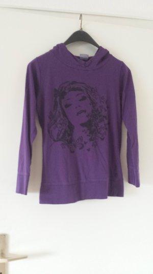 Jersey con capucha violeta oscuro