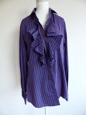 Ruche blouse veelkleurig Katoen