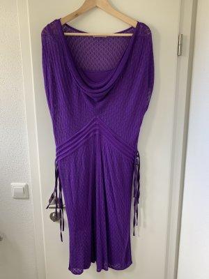 Kookai Vestido de manga corta violeta oscuro-lila