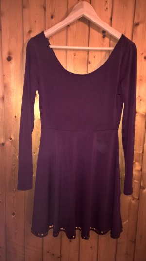 H&M Robe à manches longues violet polyester