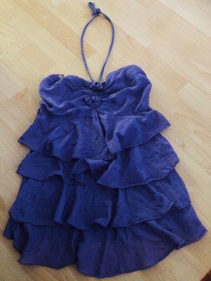 Top largo lila-azul