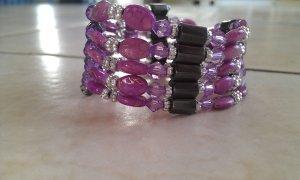 lila Magnetkette oder -armband