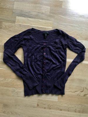 Mango Pull ras du cou violet foncé-violet