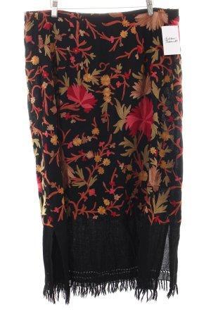 Lila Maxirock florales Muster extravaganter Stil
