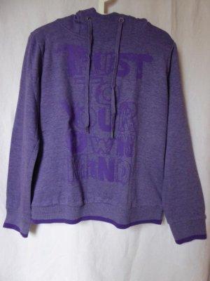 Takko Jersey con capucha violeta grisáceo-lila