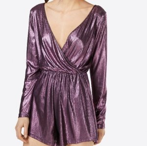 Glamorous Jumpsuit donkerpaars Polyester