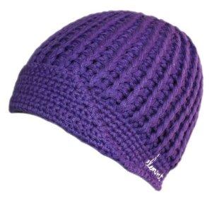 Element Chapeau en tricot bleu violet