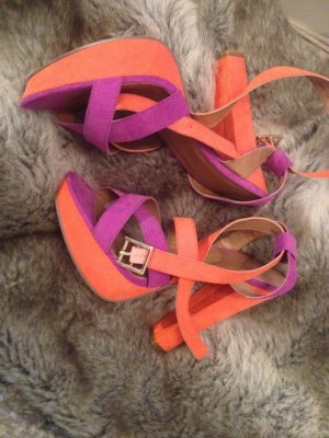 Lila/Orange Plateau Heels