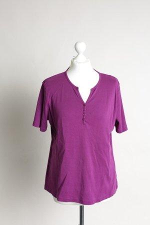 Lila-Pinkes Shirt mit Knöpfen