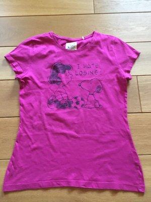 Lila/pinkes Shirt mit Snoopy Print