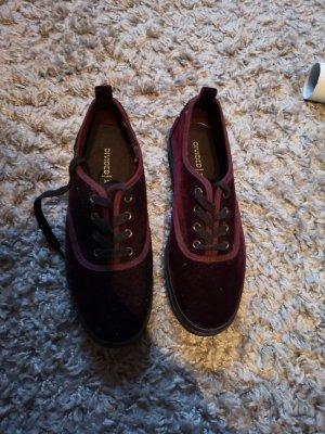 Lila Plateu Schuhe
