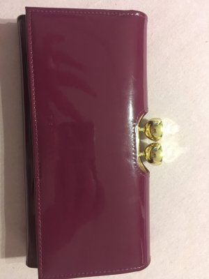 Ted baker Portefeuille rouge mûre-brun pourpre