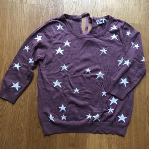 Short Sleeve Sweater purple-blue violet