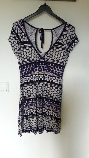 Lila Retro Kleid aus Jersey
