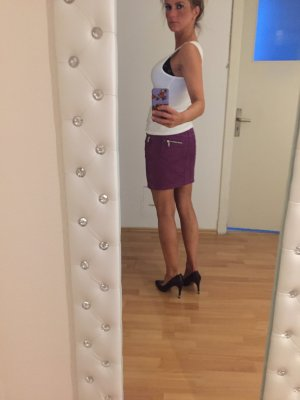 Closed Miniskirt brown violet-lilac