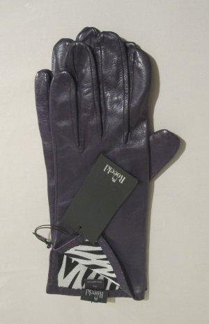Lila Roeckl Handschuhe G. 7,5 Leder