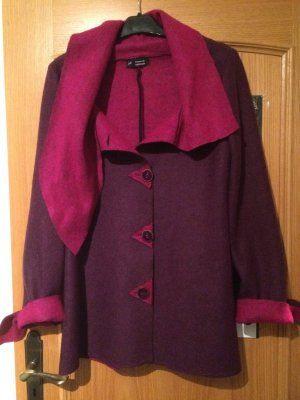 lila rosa Jacke aus Wollstoff /Wolljacke-Handgenäht-neu-Gr. 36/38