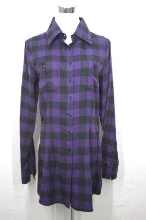lila/schwarzes Hemdkleid