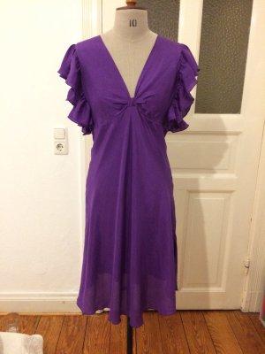 Imperial Volante jurk lila Zijde