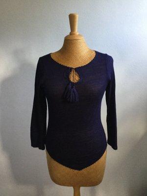 Lila Shirt 32% Wolle