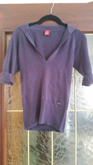 Castro T-shirt col en V violet