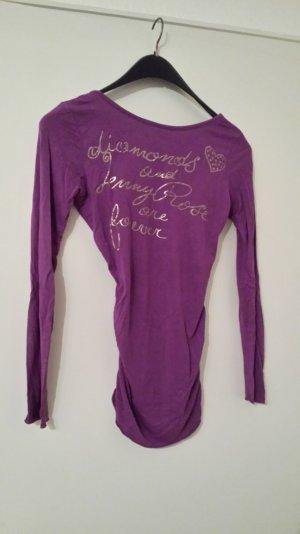 lila Shirt mit Gold Druck