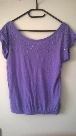 lila Shirt mit Nieten Gr. S