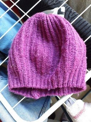 Esmara Chapeau en tricot violet acrylique
